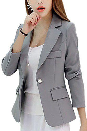 c494c9b504b22 Suvotimo Women Elegant Lapel OL Blazer Business Outfit With Pockets ...