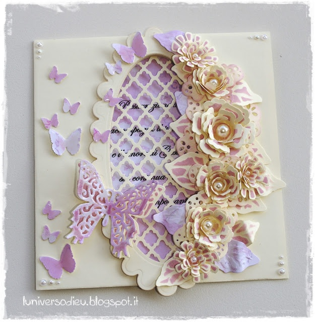 Card with bitty blossoms.