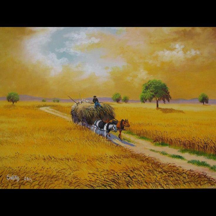 ✨Hasat ✨ Tuval Üzeri Yağlı Boya.  #resim #tablo #sergi #resimsergisi #ressam #yağlıboya #oilpainting #sanat #ankara #izmir #istanbul #art #artwork #fineart #vscocam ✨Bu Esere Sahip Olmak İçin; Okan Sartaş 05074409494✨ #drawing #canvas #ig_turkey #turkeyinstagram #turkeyartist #artofdrawing #ig_art