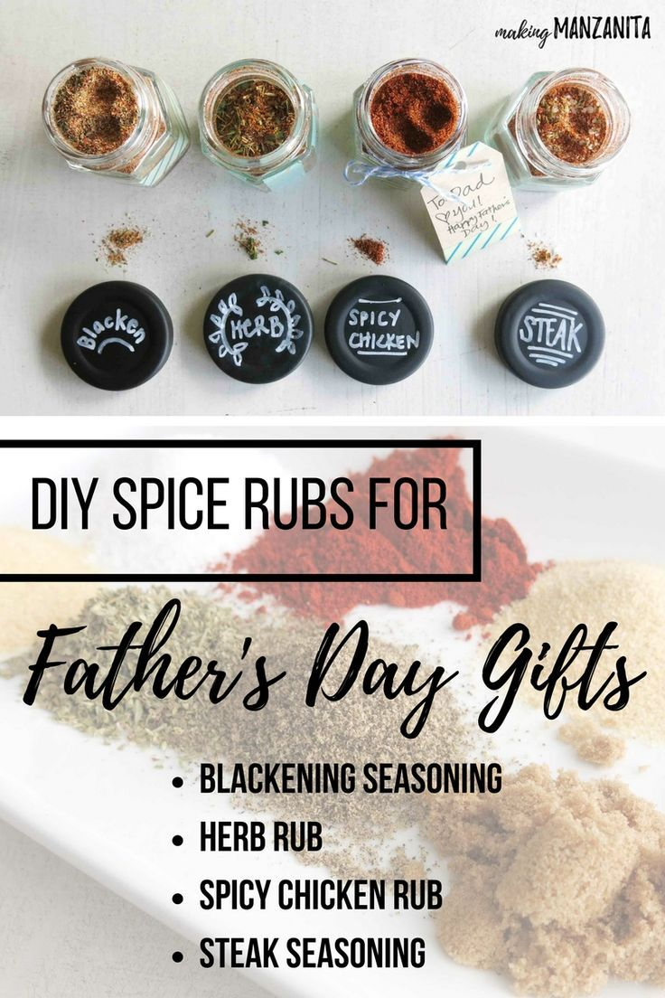 DIY Spice Rubs for Father's Day Gifts   Easy DIY gift for Father's Day   Father's Day Gift Idea   Make your own spice jars   Make your own spice rubs   DIY Spice rubs for meat   Blackening Seasoning   Dry Herb Rub   Spicy Chicken Rub   Steak Seasoning   G