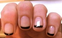Black tip nail polish, french manicure