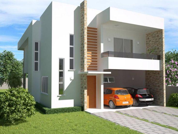 modelos de casas de dos pisos y tres dormitorios en pequeos terrenos