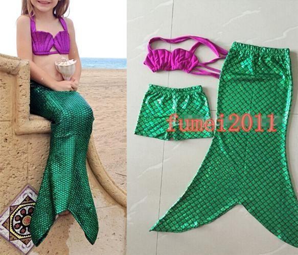 halloween party cosplay ariel little mermaid tail swimsuit shiny bikini swimwear - Halloween Swimsuit