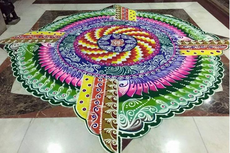 Latest Rangoli Designs For Competitions - http://www.newsduet.net/latest-rangoli-designs-for-competitions/