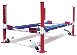 Backyard Buddy 7,000 lb. 4 Post Auto Lift Series,  proudly Made in America    The perfect car lift for your home garage comes in four versions including an extended height version that gives you a full 7 feet of clearance under the lift platform and an extended length version for longer vehicles!