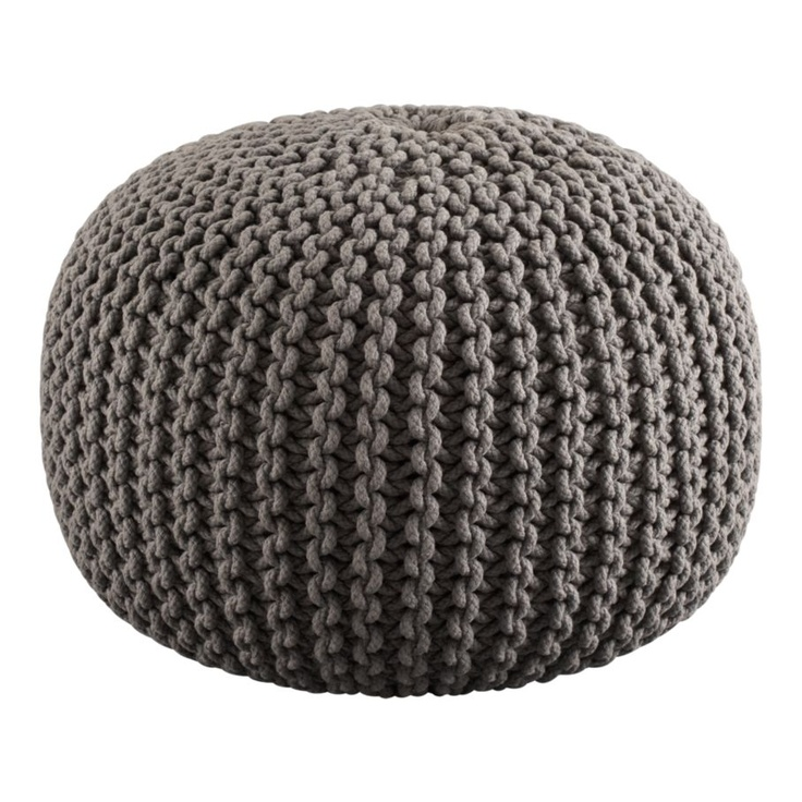 jumbo knit shale pouf more beanbag chair ideas. Black Bedroom Furniture Sets. Home Design Ideas