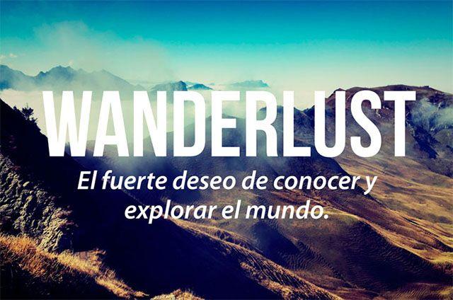 Wanderlust significado en español