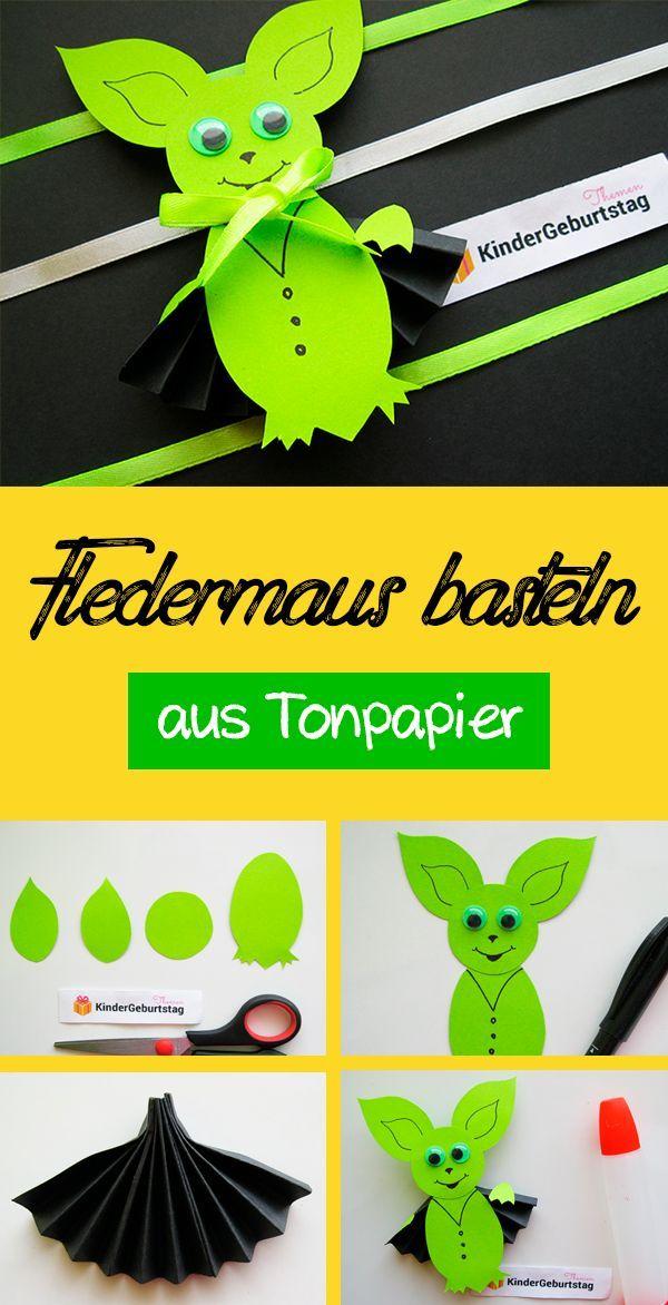 Fledermaus Aus Papier Tolle Deko Zu Halloween Basteln