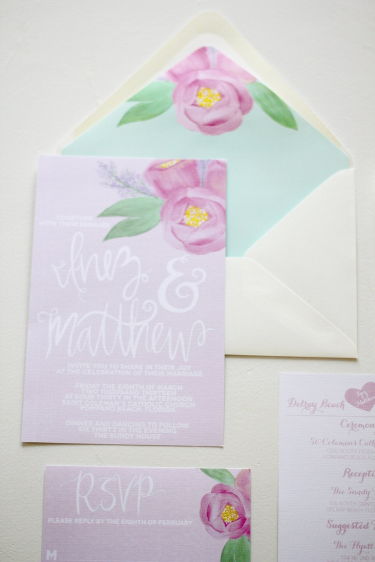 Hand Painted #Wedding Invitations