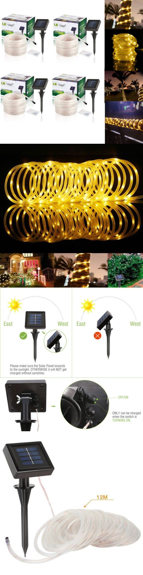 String Lights Fairy Lights 116022: 4 X Le Solar Power Rope Lights Warm White Waterproof 33Ft 100 Leds String Light -> BUY IT NOW ONLY: $47.95 on eBay!