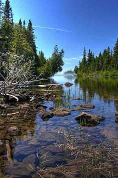 The largest island in Lake Superior, Isle Royale National Park in Michigan has secluded camping that gets you in touch with your surroundings.