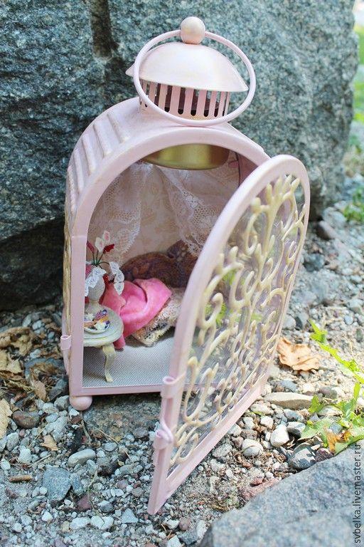 Купить Светильник Сны Шахеризады - бледно-розовый, светильник, миниатюра для кукол, кукольный дом