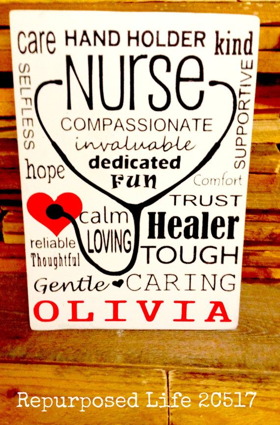 Gift for Nurse ORIGINAL Nurse Subway Art Wooden Sign Personalize Wood Nurse Sign Typography gift! Hand Painted