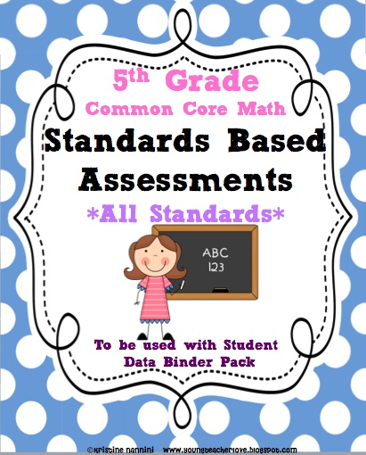 "Common Core Standards Based Assessments- perfect for schools switching to standards based grading!! This pack breaks down the standards into ""teaching notes"" with the majority of the questions being higher ordered thinking questions. 120 pages of assessments, teachers notes and documenting!!! - this aligns PERFECTLY to the student data tracking binder- your year of student data tracking will be set!!!: Grade Math, Math Ccs, Grade Ccss, Ccss Math, Teaching Math, Based Assessments, 5Th Grade, 5Thgrade, Common Core"