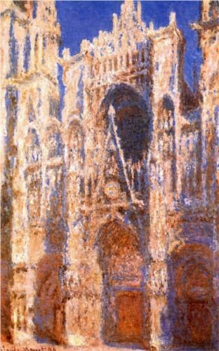 Claude Monet, Rouen Cathedral, the Portal in the Sun, 1894
