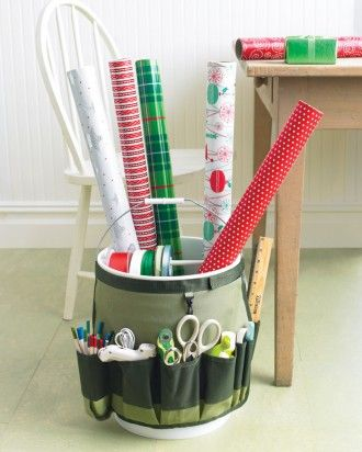 See the Portable Gift-Wrapping Station in our Holiday Organizing gallery