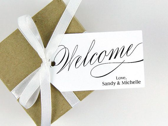 Welcome Tag - Wedding Favor Tag - Custom Tag - Large Size - 36 Pieces - 3.5 x 2 inches - $19.95