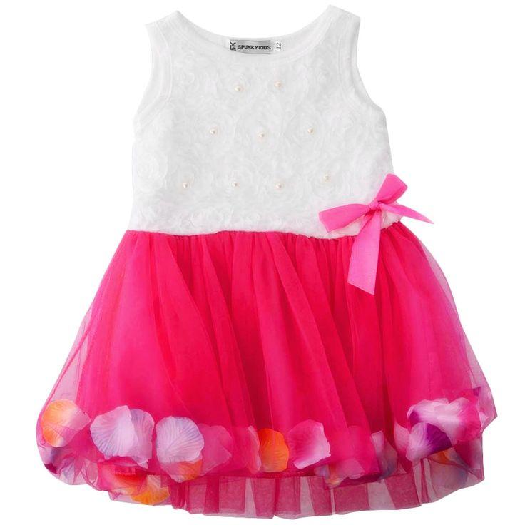 2017 Baby Summer Dress Cotton Kids Clothes Infant Petals Hem Tutu Dress Chiffon Newborn Baby Girls Dress Floral Princess Dresses