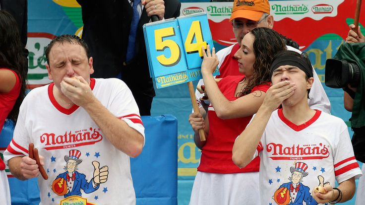 In a big upset Saturday, Matt Stonie out-ate reigning champion Joey Chestnut in Nathan's Famous Hot Dog Eating Contest on Coney Island.