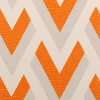Orange Chevron Fabric Upholstery Fabric by greenapplefabrics, $37.00