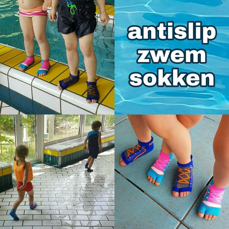 Getest: Sweakers antislip sokken voor in het zwembad #leukmetkids #review