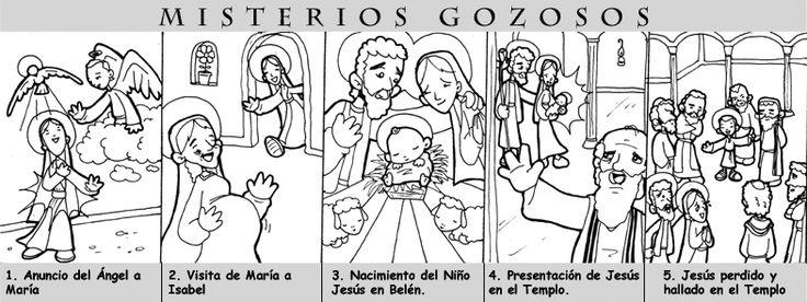 """lunes y sábados                   1- La Anunciación   """"El ángel le dijo: No temas, María, porque has hallado gracia delante de Dios, vas a ..."""