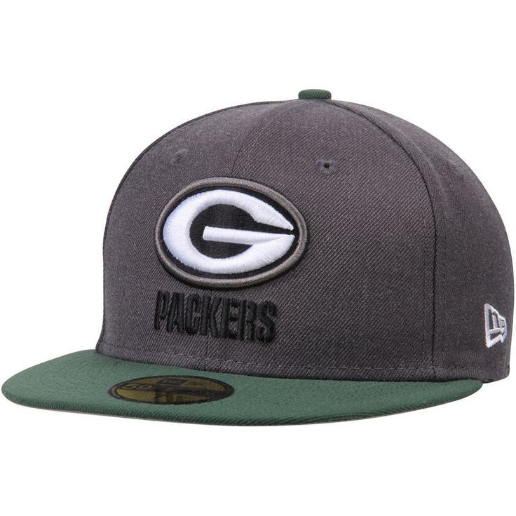 Green Bay Packers New Era Shader Melt 2 59FIFTY Fitted Hat - Heathered Gray/Green