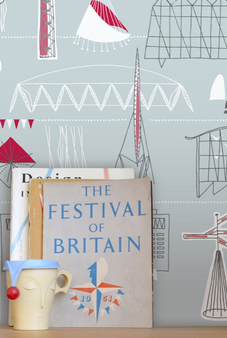 Mini Modern Festival of Britain Anniversary wallpaper