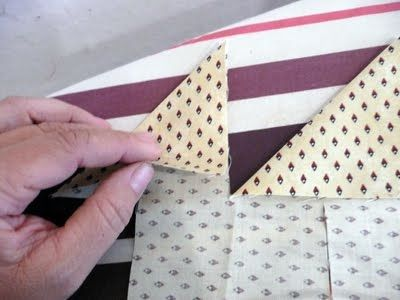 Step 1: Cutting  Once you determine the size of the points you want, you will need to cut your fabric 4x wider than that. For example:   2-1...