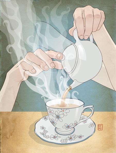 """""""Tea"""" - Illustration by Richard Wilkinson"""