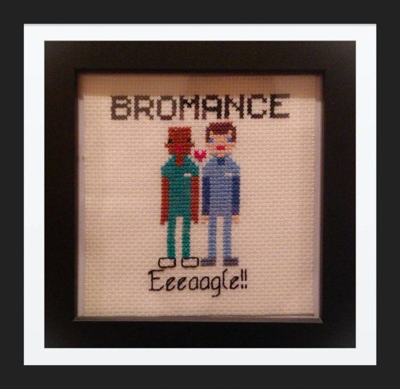 Eeeaagle!!!  My Scrubs cross stitch pattern :) at https://www.etsy.com/listing/217377016/bromance-scrubs-tv-show-counted-cross