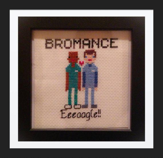 Eeeaagle!!!  My Scrubs cross stitch pattern :) at https://www.etsy.com/listing/217377016/bromance-scrubs-tv-show-counted-cross
