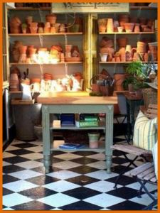 17 best images about miniature potting table on pinterest for Mini potting shed