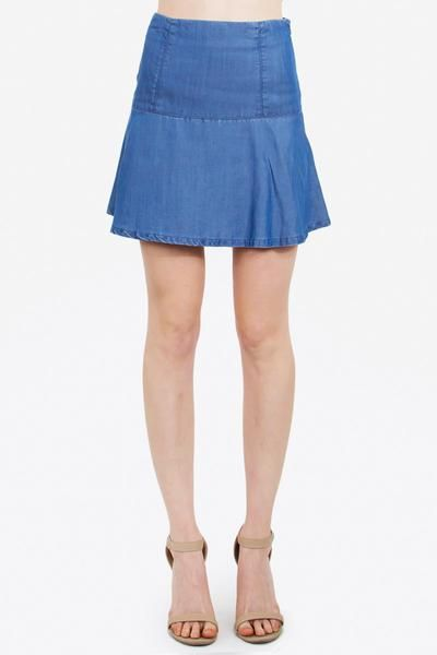 FLIRTY CHAMBRAY SKIRT - The Shop For Her