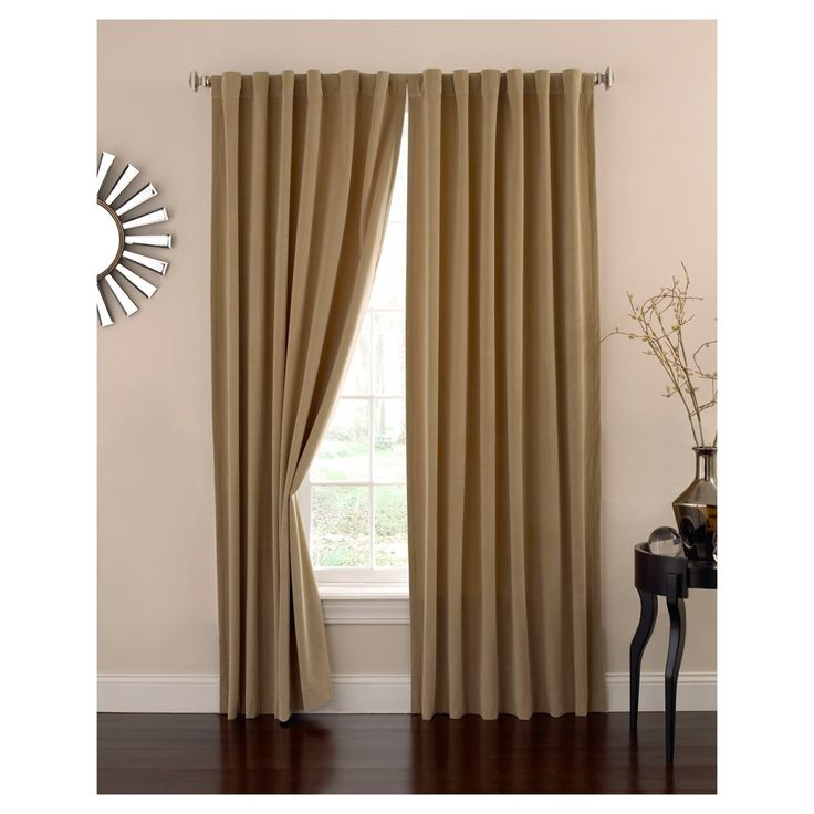 "Velvet Blackout Home Theater Curtain Panel Tan (50""x108"") - Eclipse Absolute Zero"