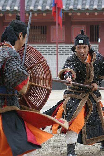 Martial artists perform at Suwon Haenggung Palace | Korea