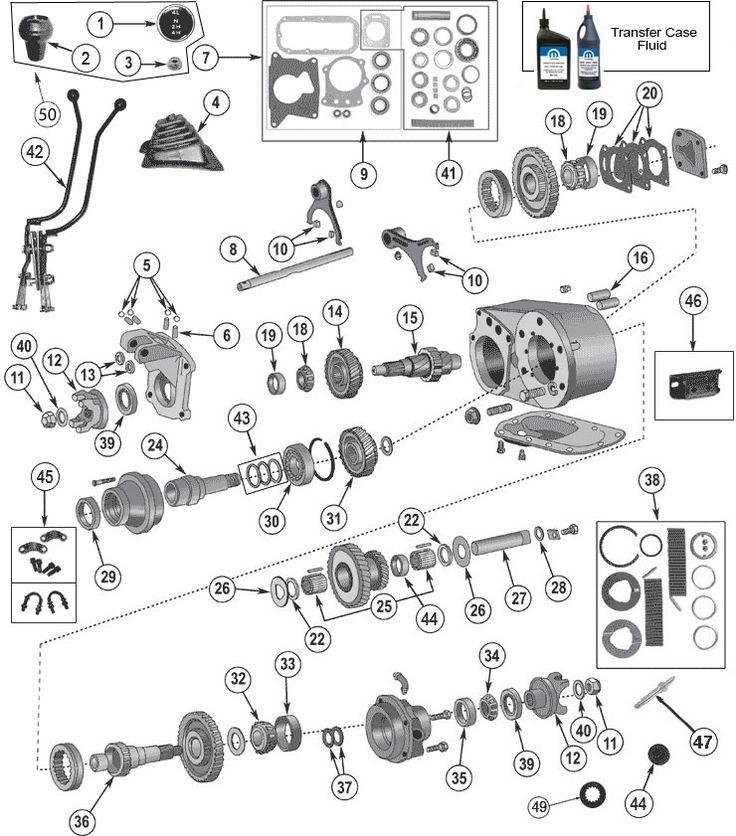 Dana 300 Transfer Case Exploded Parts View | Jeep cj7 ...