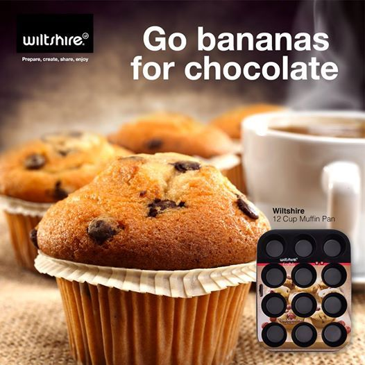 How to whip up a batch of wicked chocolate and banana muffins. Click here for recipe: www.facebook.com/wiltshiresa