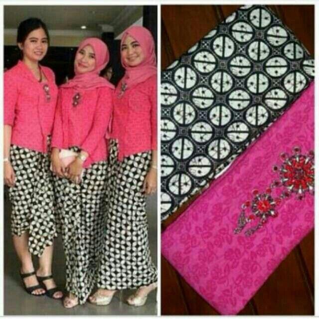 Kain Kebaya Prada Pink @155000