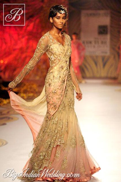 Gaurav Gupta designer lehenga collection , Delhi Couture Week , 2013.