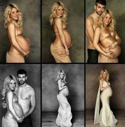 Shakira's pregnacy photo session