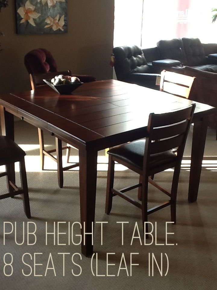 A pub height table brings your kitchen to a new level.