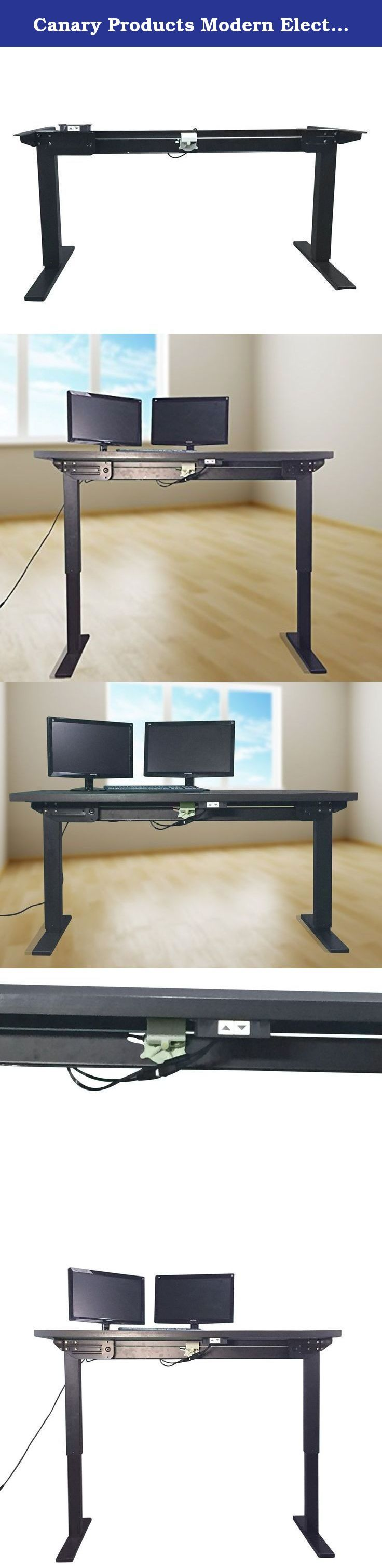 Canary Products Modern Electrical Height Adjustable Desk, Western. Sitting down for long periods of time has been linked to several health concerns, which includes increased blood pressure, high blood sugar, abnormal cholesterol level and excess body fat around the waist. Sitting down for long periods of time, unfortunately, can be very difficult to avoid. This is especially true in the present time sitting down in front of the computer. Our solution to this is our ABC306 Electric and...