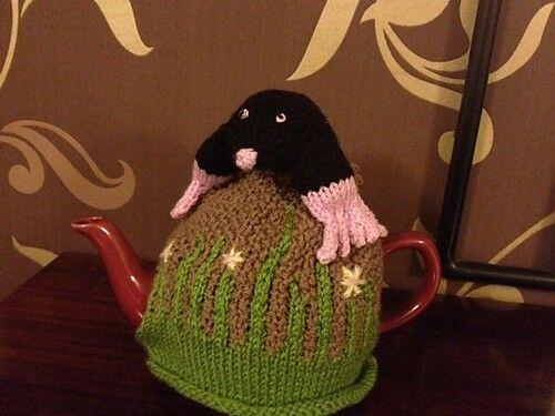 Mole tea cosy hand knitted