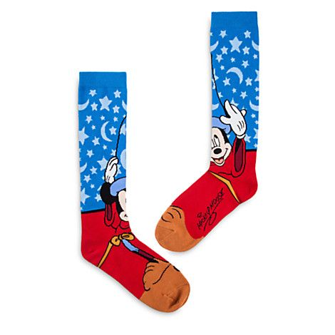 Sorcerer Mickey Mouse Knee-High Socks for Adults | Disney Store