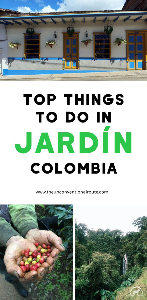 Get out of Medellin for a couple days and head to the lovely town of Jardin! Waterfalls, birds and coffee. www.theunconventionalroute.com #medellingetaway #jardinantioquia #jardincolombia #smallcolombiantown #pueblocolombiano #medellin #waterfallcolombia #hikingincolombia