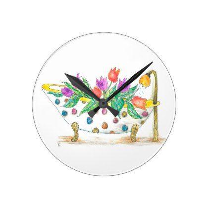 Bathroom Wall Clock (You can Customize) - bathroom idea ideas home & living diy cyo bath