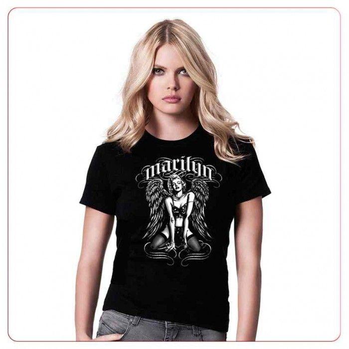Cadouri pentru motociclisti – Tricou Angel Marilyn