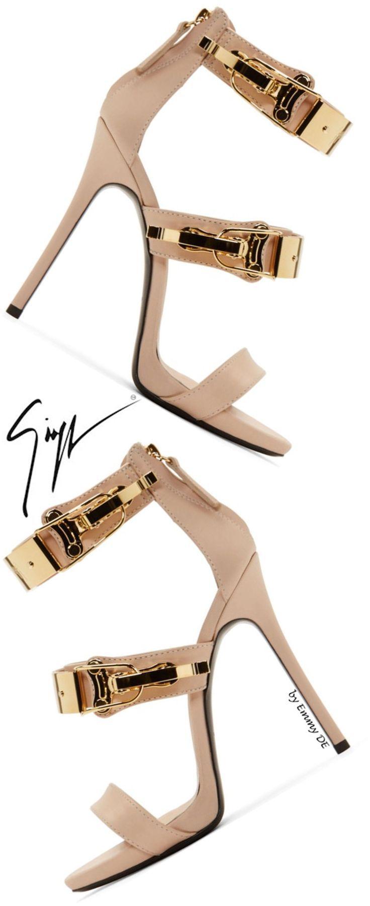 Giuseppe Zanotti Nude Pink Leather Coline Stiletto Sandals  |  @ giuseppe  zanotti