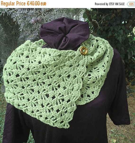 ON SALE 50% Off Crochet Neckwarmer Cowl handmade by PixiesFairies